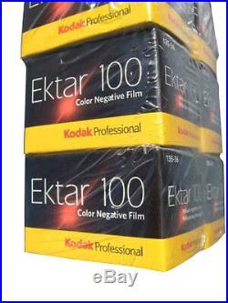 100 Rolls Kodak Ektar 100 35mm Film 135-36 Color Print Negative Fast Ship 3/2020