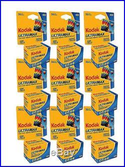 100 Rolls- Kodak Ultramax 400 GC 135-36 35mm Film Color Print Carded Fresh 2022