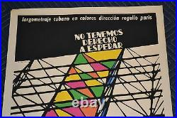 1972 Original Cuban Silkscreen Movie Poster. We have no right to wait. Color tower