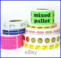 1,000 Custom Printed Film Labels, 1 x 1-1/4 Rectangle, 2 Ink Colors, Laminated