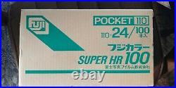 1 Case (100 Boxes) NOS Fuji 110 Super HR 100 24 Exposure Color Print Film
