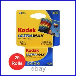 20 Rolls Kodak UltraMax GC 400 135-24 Exp. Color Print 35mm Film Fresh Date