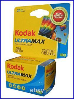 20 Rolls Kodak Ultramax 400 35mm Film GC 135-24 Exp GOLD Color Print 02/2023
