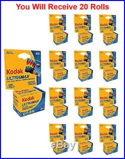 20 Rolls- Kodak Ultramax 400 GC 135-36 35mm Film Color Print Carded Fresh 2022