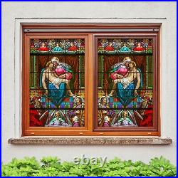 3D Color Angel B237 Window Film Print Sticker Cling Stained Glass UV Block Amy