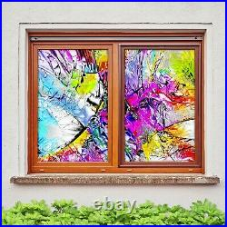 3D Color Art B240 Window Film Print Sticker Cling Stained Glass UV Block Amy