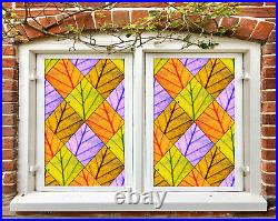 3D Color Branches ZHUB754 Window Film Print Sticker Cling Stained Glass UV Block
