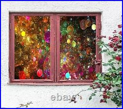 3D Color Bubble B065 Window Film Print Sticker Cling Stained Glass UV Zoe