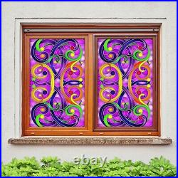3D Color Dots B641 Window Film Print Sticker Cling Stained Glass UV Block Amy