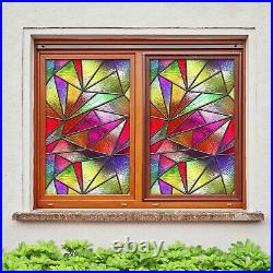 3D Color Graphics A343 Window Film Print Sticker Cling Stained Glass UV Amy