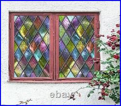 3D Color Graphics A431 Window Film Print Sticker Cling Stained Glass UV Amy
