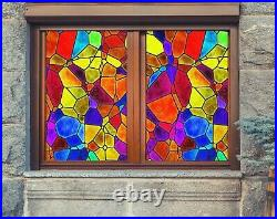 3D Color Graphics A69 Window Film Print Sticker Cling Stained Glass UV Zoe
