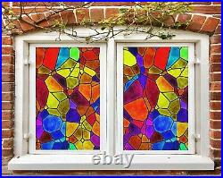 3D Color Graphics B69 Window Film Print Sticker Cling Stained Glass UV Zoe