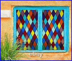 3D Color Graphics I22 Window Film Print Sticker Cling Stained Glass UV Block Amy
