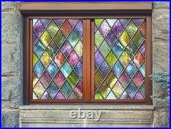 3D Color Graphics P528 Window Film Print Sticker Cling Stained Glass UV Block Am