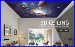 3D Color Jellyfish ZHUB15 Window Film Print Sticker Cling Stained Glass UV Block