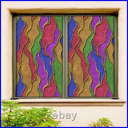3D Color Pigment ZHUB628 Window Film Print Sticker Cling Stained Glass UV Block