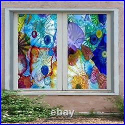 3D Color Seashell O238 Window Film Print Sticker Cling Stained Glass UV Block Am