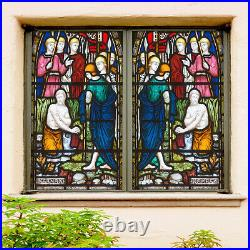 3D Color Soldier ZHUB375 Window Film Print Sticker Cling Stained Glass UV Block