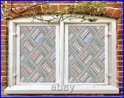 3D Color Stripes B617 Window Film Print Sticker Cling Stained Glass UV Block Amy