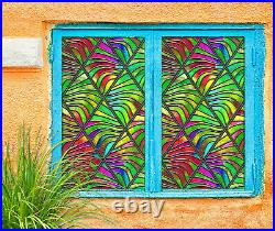 3D Color Stripes ZHUB593 Window Film Print Sticker Cling Stained Glass UV Block