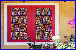 3D Color Triangle ZHUB441 Window Film Print Sticker Cling Stained Glass UV Block