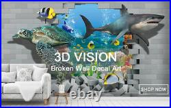 3D Color Wave I159 Window Film Print Sticker Cling Stained Glass UV Block Ang