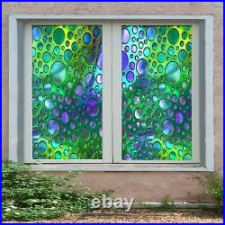3D Colored Circle A178 Window Film Print Sticker Cling Stained Glass UV Zoe