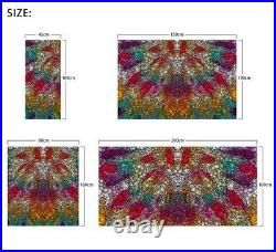 3D Colored Crystal ZHUA164 Window Film Print Sticker Cling Stained Glass UV