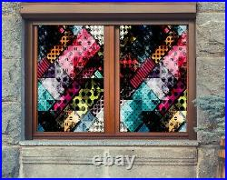 3D Colored Dots B075 Window Film Print Sticker Cling Stained Glass UV Zoe