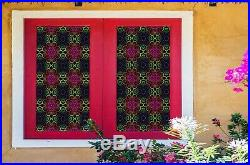 3D Colored Flower D158 Window Film Print Sticker Cling Stained Glass UV Block An