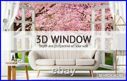 3D Colored Flowers ZHUA814 Window Film Print Sticker Cling Stained Glass UV