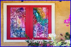 3D Colored Gravel ZHUB317 Window Film Print Sticker Cling Stained Glass UV Block