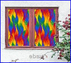3D Colored Kelp I685 Window Film Print Sticker Cling Stained Glass UV Block Amy