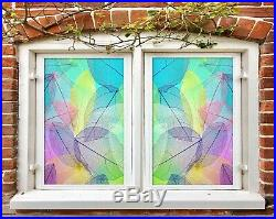 3D Colored Leaves A133 Window Film Print Sticker Cling Stained Glass UV Zoe