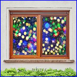 3D Colored Light A53 Window Film Print Sticker Cling Stained Glass UV Zoe