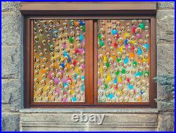 3D Colored Water ZHUB194 Window Film Print Sticker Cling Stained Glass UV Block