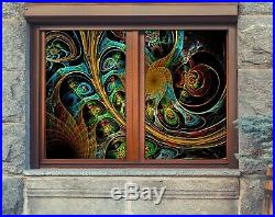 3D Colored texture D65 Window Film Print Sticker Cling Stained Glass UV Block An