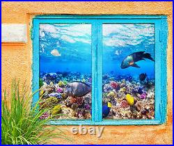 3D Colorful Coral ZHUB753 Window Film Print Sticker Cling Stained Glass UV Block