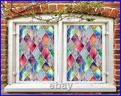3D Colorful Dots D188 Window Film Print Sticker Cling Stained Glass UV Block An