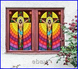3D Man Colorful S I25 Window Film Print Sticker Cling Stained Glass UV Block Ang