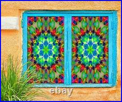 3D Pattern Color I169 Window Film Print Sticker Cling Stained Glass UV Block Ang