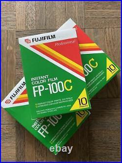 3 BOXES of Fujifilm Fp-100c Prof Instant Color Film 100 Prints- expired 3/2003