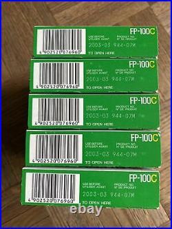 5 BOXES of Fujifilm Fp-100c Prof Instant Color Film 100 Prints- expired 3/2003