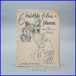 6 German Film Stars N. Colour. Zeichn. V. Fritz Chisel Verl D. Filmwelt 1.41Z