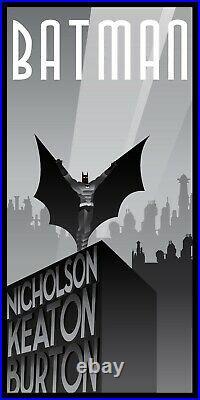 Batman 1989 6 Color Limited Screen Print Art Film Poster #75 17 x 33