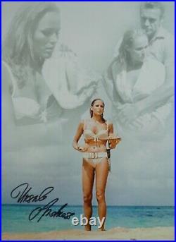 Bond Girl Ursula Andress hand signed colour 16x12 print UACC Registered Dealer