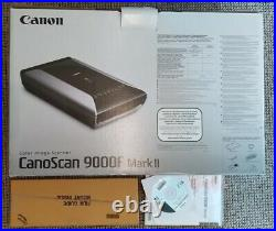 Canon CanoScan 9000F Mark II Flatbed Scanner withbox instructions CD 3 Film Mounts