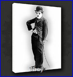 Charlie Chaplin Iconic Film Wall Art Many Colours Canvas Print Picture