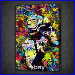 Colourful Harley Quinn Acrylic Style Wall Art Canvas Print Picture Ready To Hang